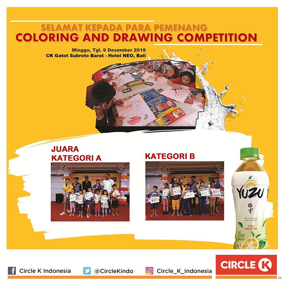 Pemenang YUZU Year End Special Coloring And Drawing Competition 2018